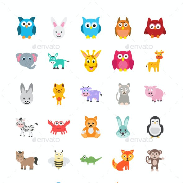 100 Cute Animals Icons