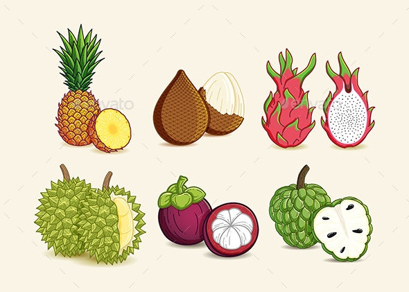 Exotic Tropical Fruits - Organic Objects Objects