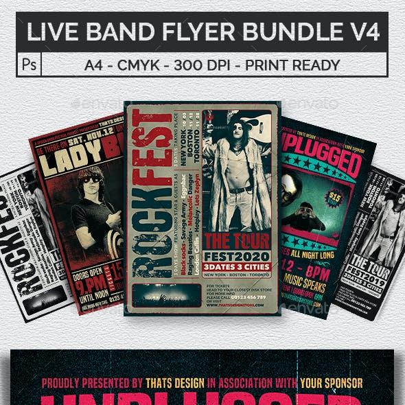 Live Band Flyer Bundle V4