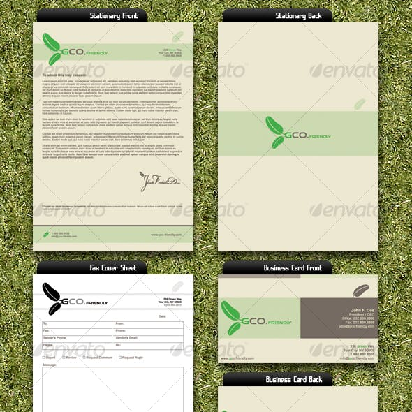 Green Company Business Set