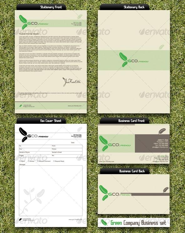 Green Company Business Set - Miscellaneous Graphics