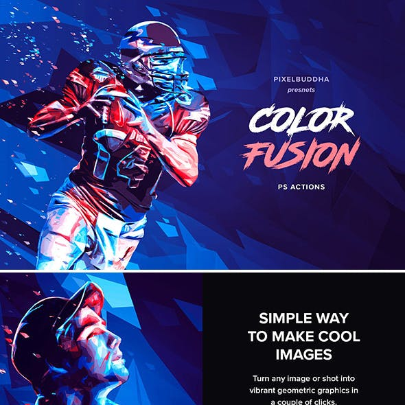 Color Fusion Geometry Photoshop Actions