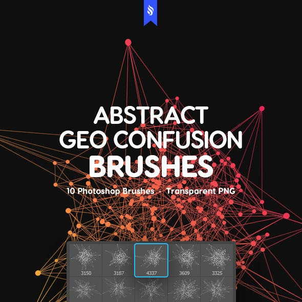 Geometrical Confusion Photoshop Brushes