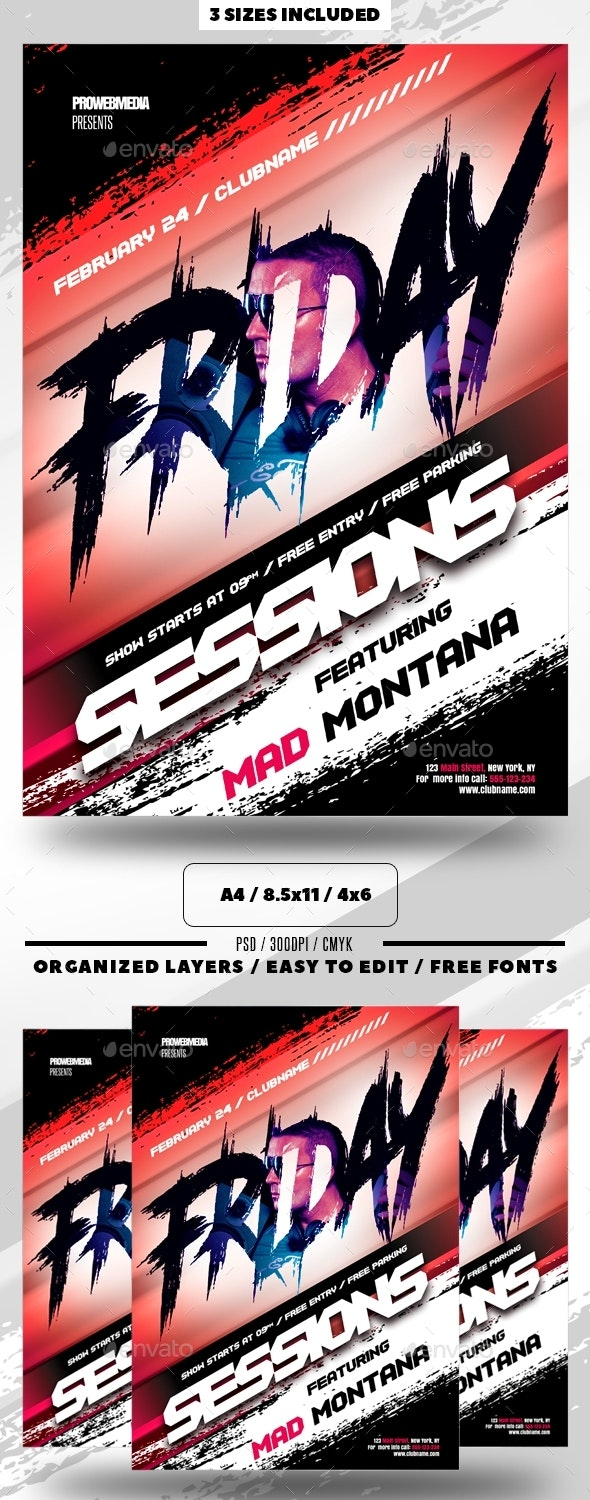 Nightclub Party Flyer / Poster - Clubs & Parties Events