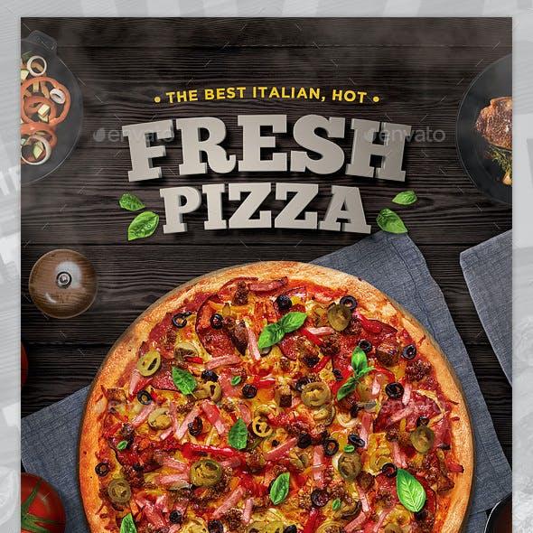 Pizza Flyer + Pizza Menu