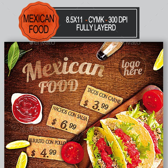 Mexican Food Flyer