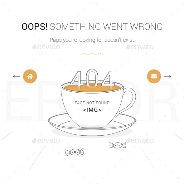 Animated 404 Error Page