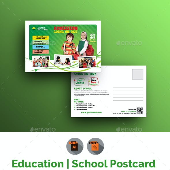 Junior School Postcard Template