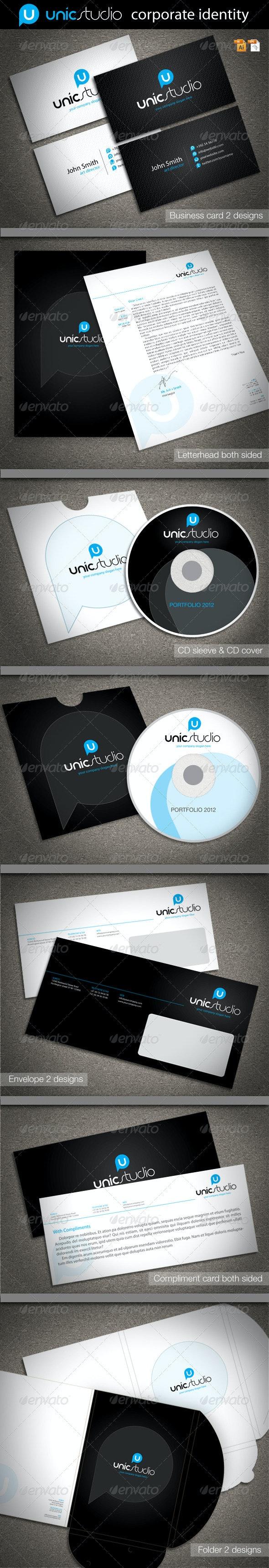 Unic Studio Corporate Identity - Stationery Print Templates