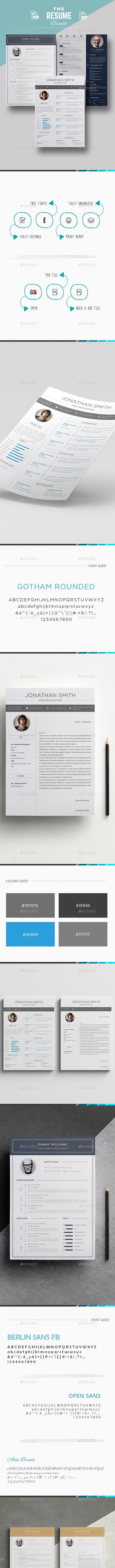3 Resume/CV Bundle - Resumes Stationery