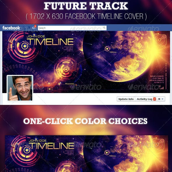 Future Track Facebook Timeline Cover Template
