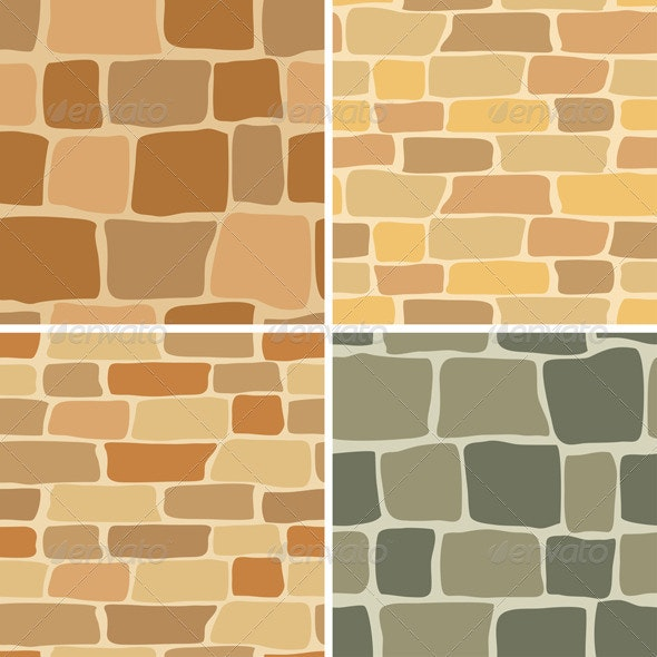 Stone Wall - Seamless Patterns - Patterns Decorative