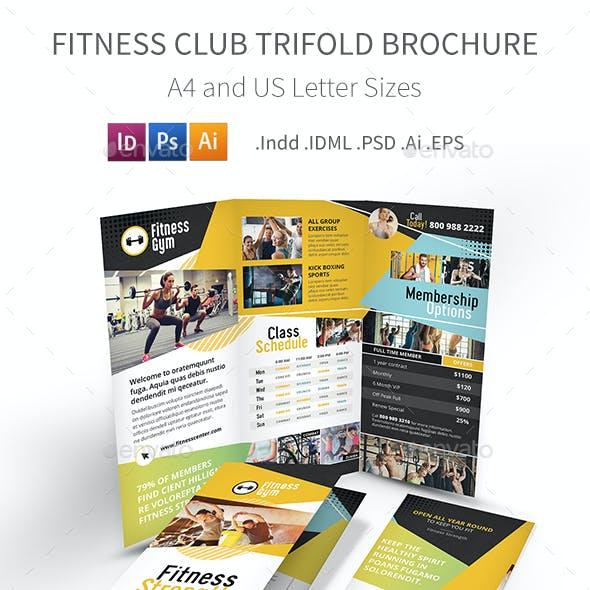 Fitness Club Trifold Brochure