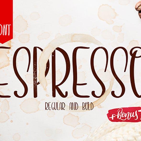 Espresso hand written font