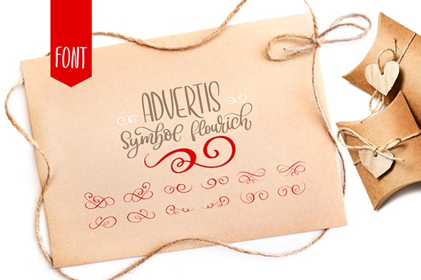 Advertis Ornament Flourish Font - Ding-bats Fonts