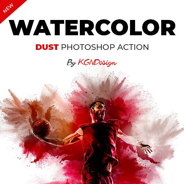 Watercolor Dust Photoshop Action