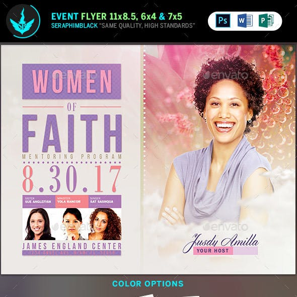 Women of Faith Conference Flyer Template