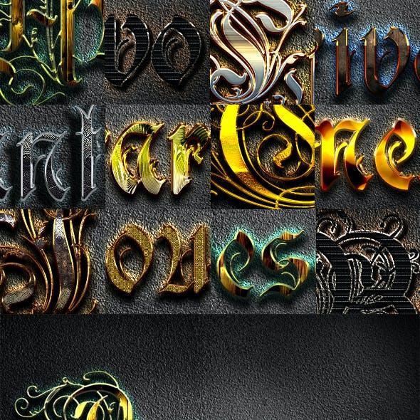 10 3D Text Styles W20