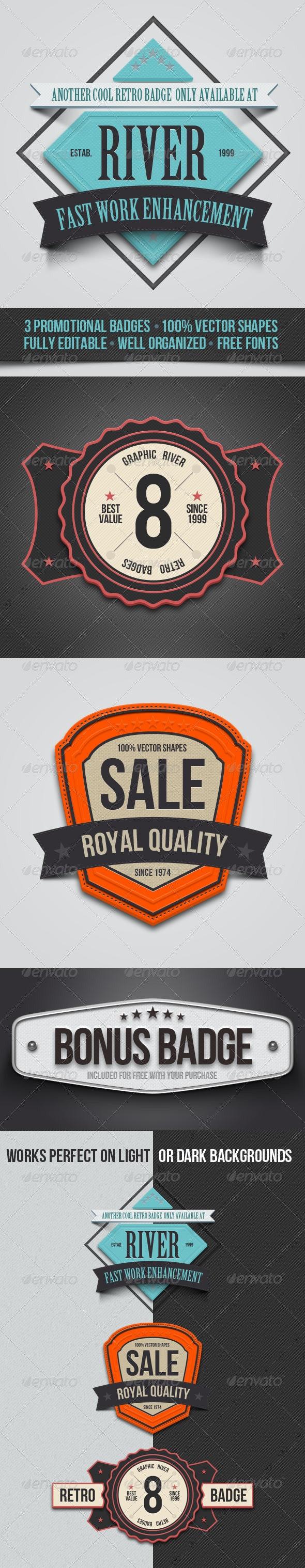 Promo Badges - Badges & Stickers Web Elements