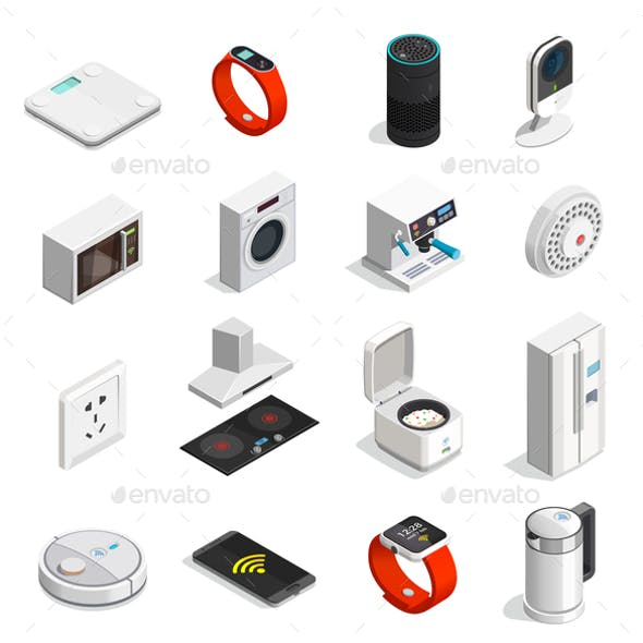 Internet of Things Isometric Icons