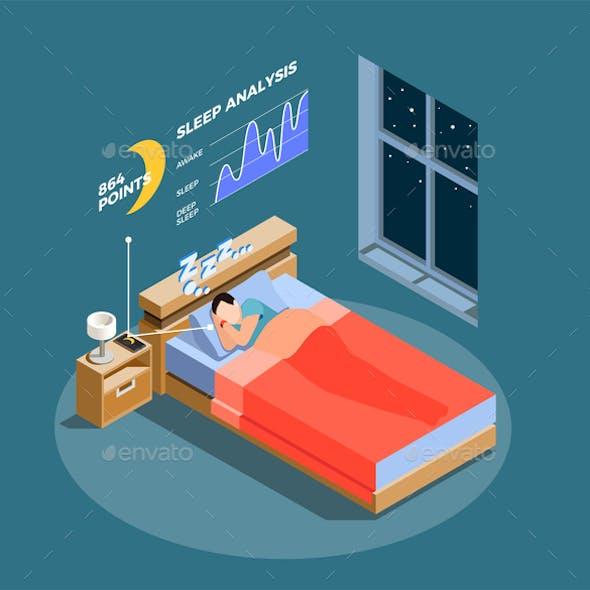 Sleep Analysis Isometric Composition