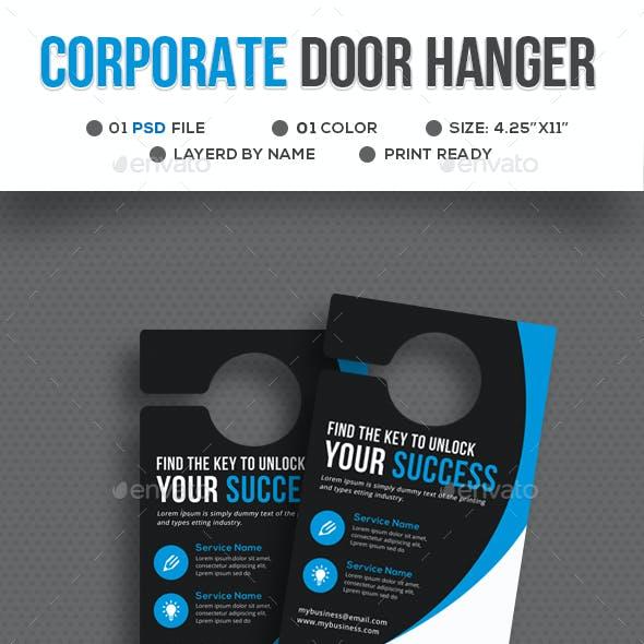 Corporate Door Hanger Template