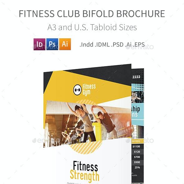 Fitness Club Bifold / Halffold Brochure