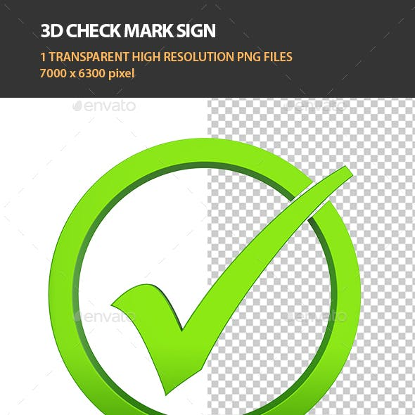 3D Checkmark Sign