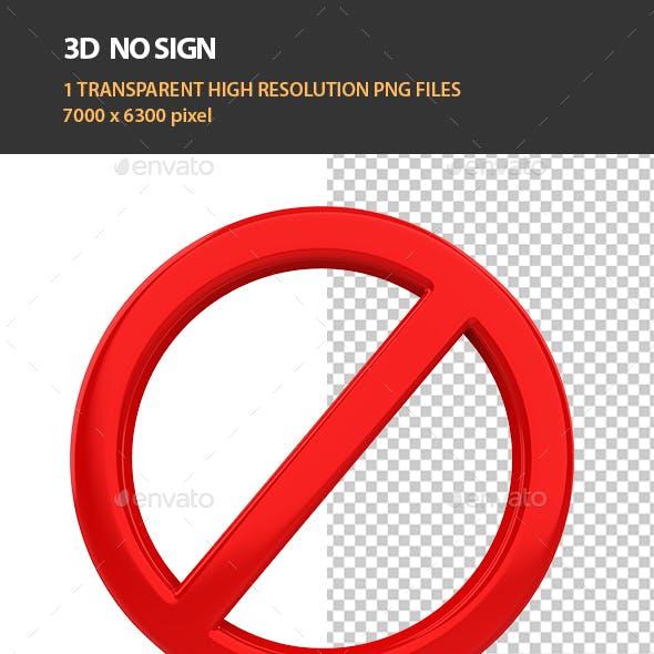 3D No Sign