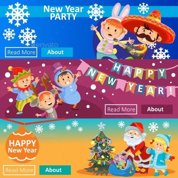 Vector Christmas Carnival Party - Miscellaneous Seasons/Holidays