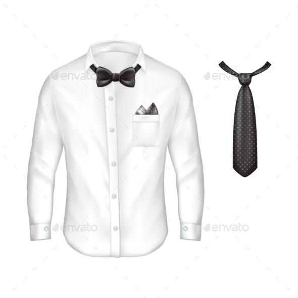 Vector 3d Realistic Set of Male Formal Wear