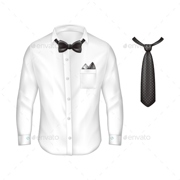 Vector 3d Realistic Set of Male Formal Wear - Man-made Objects Objects