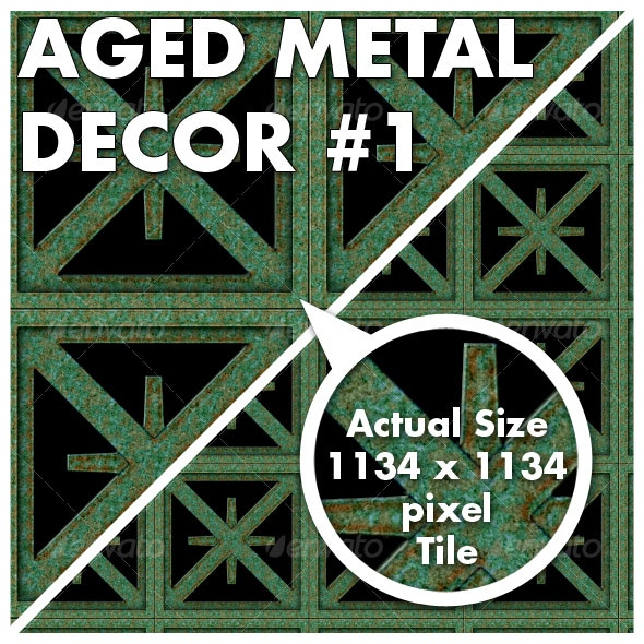 Aged Metal Decor 1 - Patterns Backgrounds