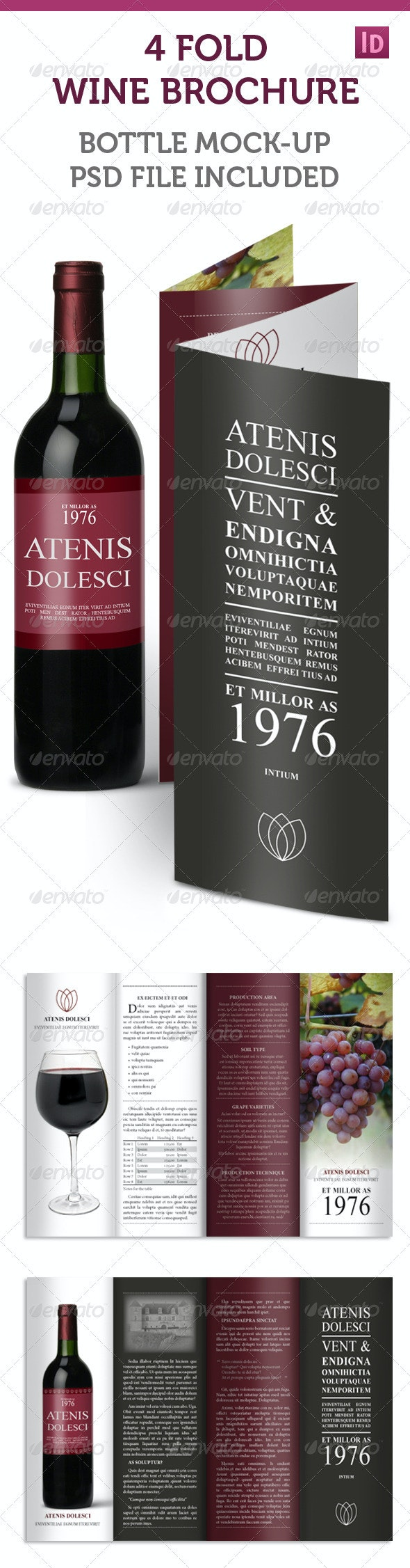 4-fold Accordion Wine Brochure - Corporate Brochures