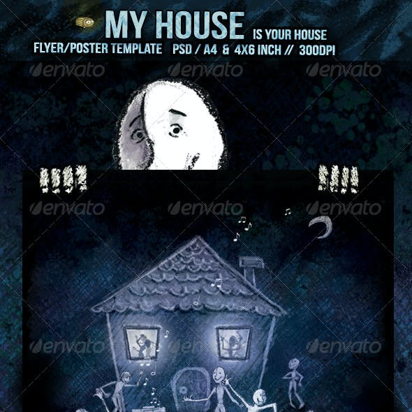 My House is your House Flyer/Poster Template