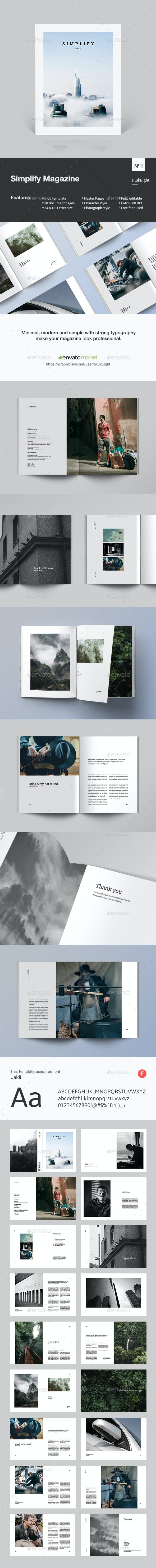 Simplify Magazine - Magazines Print Templates