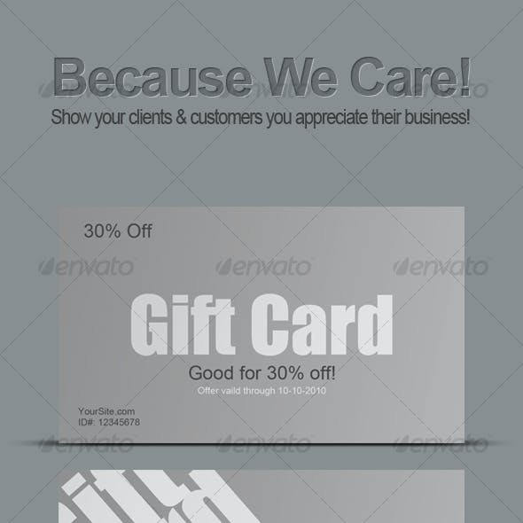 Clean Gift Cards (Print Ready As-well)