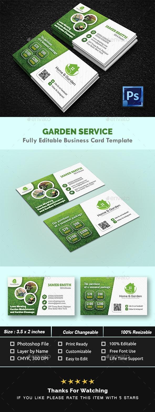Garden Landscape Business Card Templates - Creative Business Cards