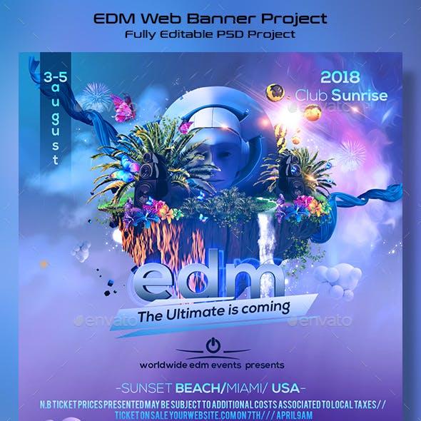 EDM Festival Banner