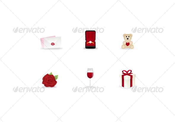 Valentines Day Icons  - Web Icons