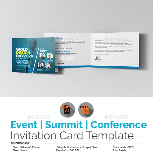Event/Summit/Conference Invitation Card