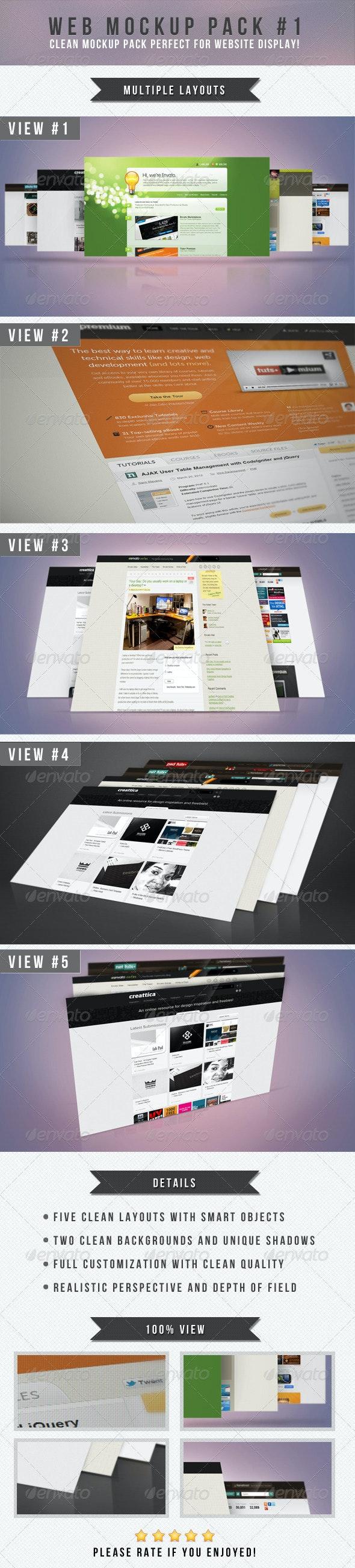 Web Mockup Pack #1 - Website Displays