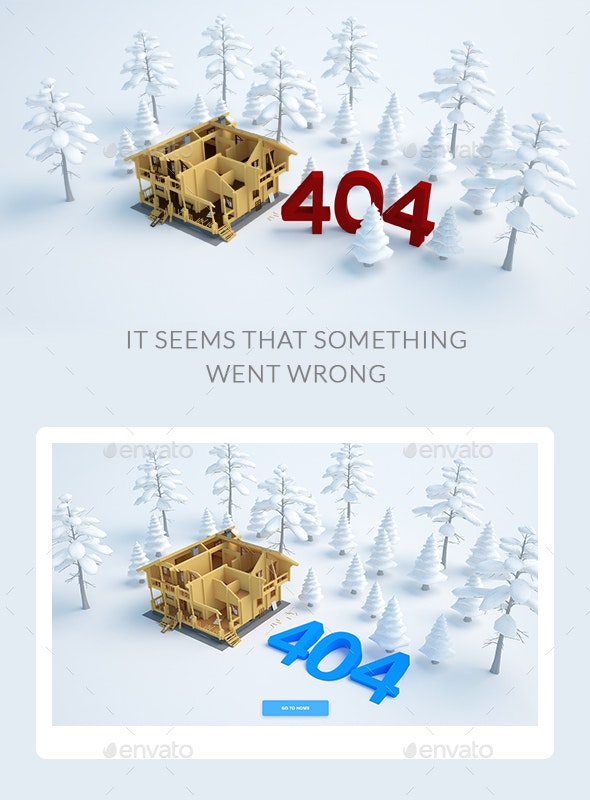 House Broke Down - 404 Pages Web Elements