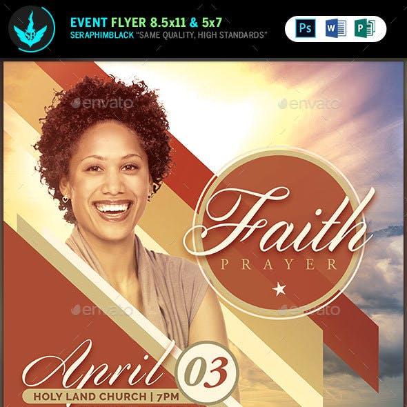 Faith and Prayer Church  Flyer Template