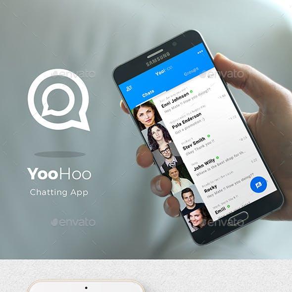 iOS+Android Chatting App UI Set- Modern Design