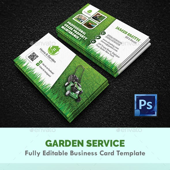 Garden Landscape Business Card Templates