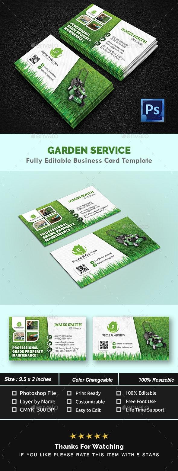 Garden Landscape Business Card Templates By Creativeinnovation Graphicriver