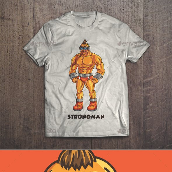 Strongman T-shirt Design