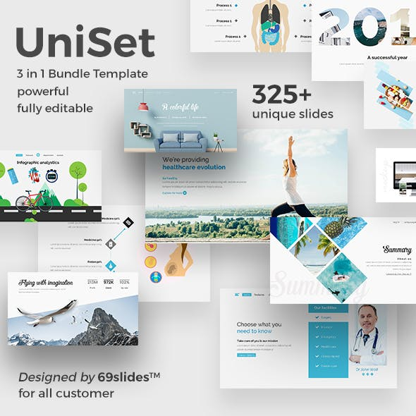 3 in 1 UniSet Bundle Powerpoint Creative Template