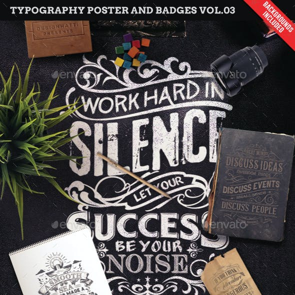 Typography Poster and Badges Vol.03